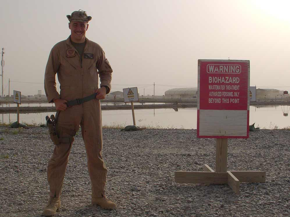 Just outside of officer berthing in Kandahar, Afghanistan